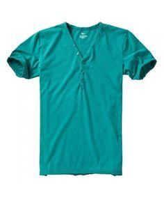British Style Nostalgic Series V Neck Solid Color T Shirt for Men