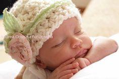 crochet flower for newborn hat - Google Search