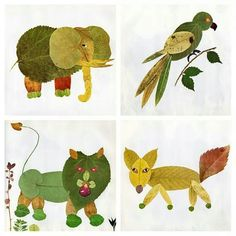 Animal art..With leaves