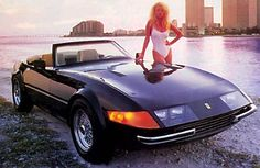 "Miami Vice - Ferrari Daytona spyder.    the car used in the show was a ""kit"" on a corvette chassis"