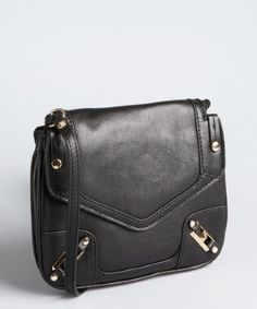 a501c06a5 Rebecca Minkoff black grained leather stud buckled May May crossbody bag  Saddle Bags, Rebecca Minkoff