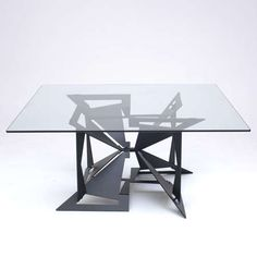 Origami Tables - The 4foldlow Table is Made of Laser Cut Steel in Creative Shapes (GALLERY)