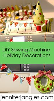 DIY sewing machine holiday decorations, you need to make these.