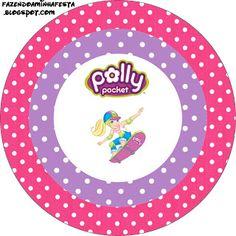 Polly Pocket - Kit Completo com molduras para convites, rótulos para guloseimas, lembrancinhas e imagens!