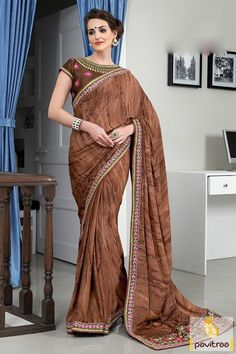 Adorn the extra chic brown viscose festival saree with online discount. It is charming with nice prints and fancy blouse. Buy it online with offer. #partywearsaree, #netsaree, #onlinesareeshopping, #embroiderysaree, #discountoffer, #georgettesaree, #bollywoodsaree, #actressstylesaree, #pavitraafashion, #utsavsaree, #printedsaree http://www.pavitraa.in/store/party-wear-saree/ callus:917698234040