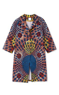 Printed wax cotton coat from Stella Jean for running errands this spring. Just add skinny jeans and I'm done!