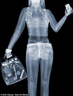 In this image, entitled Valley Girl, a woman appears to be carrying two condoms in her back pocket