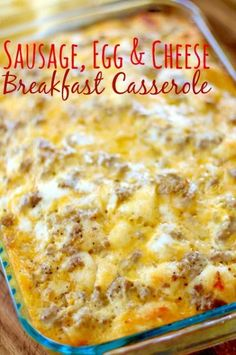 Sausage Egg Cheese Biscuit Casserole is the ultimate breakfast! It's so simple to make and can be made in advance. Sausage Egg Cheese Biscuit Casserole is the ultimate breakfast! It's so simple to make and can be made in advance. Kitchen Recipes, Cooking Recipes, Cooking Corn, Keto Recipes, Breakfast Casserole Sausage, Egg Bake Casserole, Overnight Breakfast Casserole, Breakfast Sausage Recipes, Pioneer Woman Breakfast Casserole