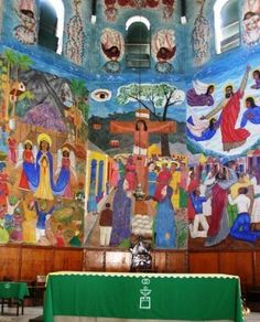 The Murals Of Holy Trinity Cathedral PortauPrince Haiti Port - Vol paris port au prince
