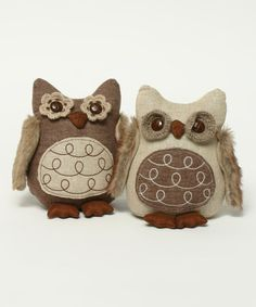 Large Snootie Owl Figurine Set