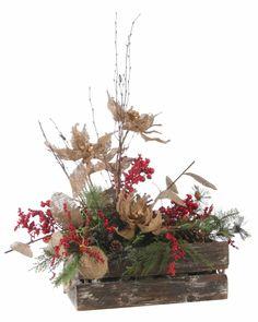 2013 Christmas Designs Prairie Gardens Champaign Illinois www. Christmas Flower Arrangements, Christmas Flowers, Prim Christmas, Christmas 2016, Christmas Wreaths, Christmas Crafts, Christmas Decorations, Xmas, Holiday Decor