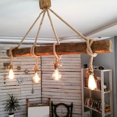 Are you looking for rustic lighting ideas to give your home a rustic look? I have here amazing rustic lighting ideas to give your home a rustic look. Rustic Lighting, Diy Furniture, Creative Lighting, Handmade Lighting, Wooden Lamp, Wooden Lamps Design, Rope Lamp Diy, Pendant Lighting, Chandelier