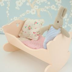 Maileg bunny and crib from www.cottontailsbaby.co.uk