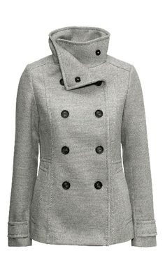H&M Fall Fashion Trends - Classy Grey Jacket #H&M #Jackets  Get a 20% H&M Coupon Code here - http://www.thriftymoment.com/hm