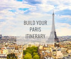 Set your dates, pace and interests, and our Paris Travel Guide recommend an itinerary of top attractions organized to reduce traveling around plus a map to help direct you.