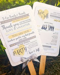 Ceremony Program Fans by Cordial Punch Press. Summer Wedding Ceremony. Outdoor Wedding. Wedding Accessories.