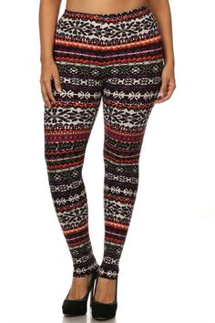Sunrise Multi Design Plus Size Leggings – Niobe Clothing