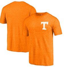 Tennessee Volunteers Fanatics Branded Left Chest Distressed Logo Tri-Blend T-Shirt - Tenn Orange Heathered