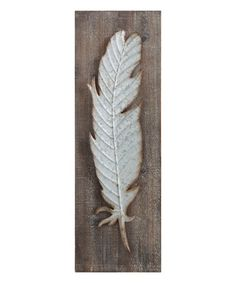 Look what I found on #zulily! Wood & Metal Feather Wall Art #zulilyfinds