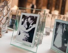display family photos at the wedding