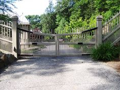 Aluminum Or Steel Driveway Gate Design Cad Drawing