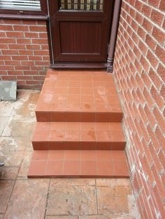 Dartrey white wood-effect floor tile and Hartley red brick effect ...