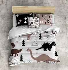 My 1st Big Boy Bed Set!  Dinosaur Comforter, Dino Bedding, Toddler Bedding, Kids Bed Set, Little Boy Bedding by InkandRags on Etsy https://www.etsy.com/listing/236018845/my-1st-big-boy-bed-set-dinosaur