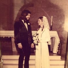 My parents at their wedding 1973 (I think lol)