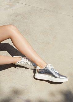 Tennis plateforme métallisées - Femme. Tennis Plateforme  Chaussure Tennis  ... 88ce7a1d5b78