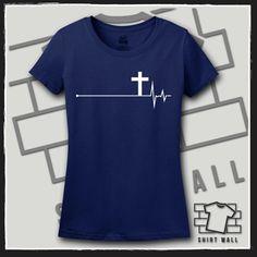 Regalo, regalo de la enfermera, la enfermera para enfermera, enfermera, estudiante de enfermería, enfermería, enfermería de regalos, enfermería camisa, Cruz, Cruz camiseta, camiseta del latido del corazón, te