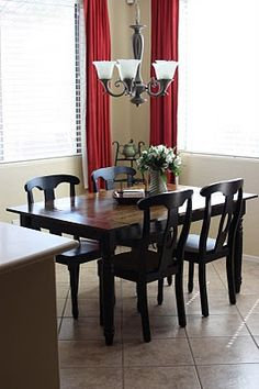 New farmhouse tabletop. Steve and Kelly Plus Two: Our KMart Table Makeover