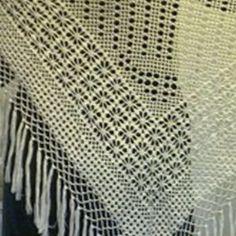 шаль крючком филейное вязание