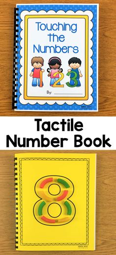 Have your students make this cute tactile number book (1-10) to help with number formation, number recognition, and one-to-one correspondence. After finishing the page, your children will love counting each object on the number while touching them at the same time. #tactilebook #teachingnumbers #countingactivities #numberactivities #tactile #numberbook Tactile Activities, Counting Activities, Vocabulary Activities, Alphabet Activities, Counting Books, Teaching Numbers, Teaching The Alphabet, Math Numbers, Numbers For Toddlers
