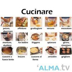 L'italiano in cucina #verbi #italiano #cucinare