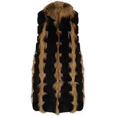 SLEEVELESS FUR GILET ❤ liked on Polyvore featuring outerwear, vests, fur vests, fur gilet, fur gilet vest, sleeveless vest and fur waistcoat
