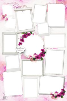 Create a Memorial Photo Collage of your loved ones life. Simply select a Photo Collage Design Template, upload photos and personalize. Photo Collage Board, Photo Collage Design, Photo Frame Design, Photo Collage Template, Birthday Tarpaulin Design, Romantic Fonts, Birthday Frames, Collage Maker, Photo Memories