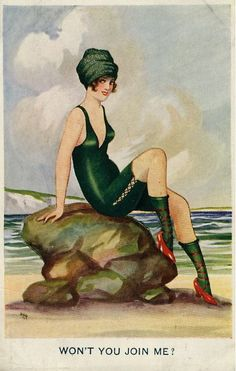""".      Seaside Postcards 1919    """"A postcard found in a secret compartment in my grandfather's desk, shortly after his death. He presumably bought it while in France during the Great War."""""""
