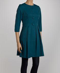 Sapphire Button-Up Dress
