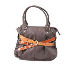 Melie Bianco Sabrina Belted Satchel (Brown) Melie Bianco, To SEE or BUY just CLICK on AMAZON right here http://www.amazon.com/dp/B00IFW9PTW/ref=cm_sw_r_pi_dp_UOTDtb0X1CSP2TK6