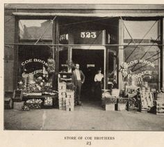 Store of Coe brothers :: Textiles, Teachers, and Troops - Greensboro 1880-1945