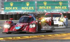 The #70 SpeedSource Mazda / Castrol / ModSpace Mazda driven by Jonathan Bomarito, Tristan Nunez, James Hinchcliffe and Sylvain Tremblay races during The Rolex 24 at Daytona at Daytona International Speedway on January 24, 2015 in Daytona Beach, Florida.