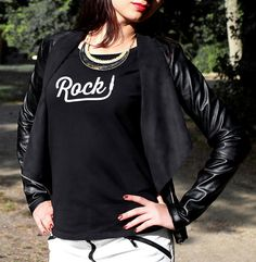Check out this item in my Etsy shop https://www.etsy.com/uk/listing/260270433/rock-style-womens-t-shirt-trend-tops