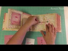 Baby girl album - cuddle girl - Authentique - scrapbooking - photo album - handmade - tutorial - YouTube