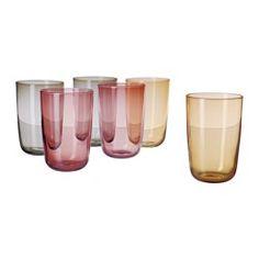 6 verres eau en verre multicolores gipsy achat maison pinterest verre ensemble et eaux. Black Bedroom Furniture Sets. Home Design Ideas