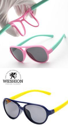 SOZO Kids TAC Polarized Sunglasses TR90 Flexible Safety Frame Boy Girl Double Bridge Fashion Eyewear Children Shades