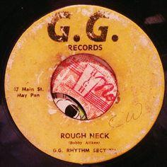 Rough neck.  #reggae #jamaica #45rpm #dub #reggaelabelart #version #instrumental #ggrecords #ggrhythmsection #bobbyaitken #roughneck #themaytones #lovingreggay #alvinranglin #mainstreet #maypen #madeinjamaica #reggaefever #rootsmusic by albwizz