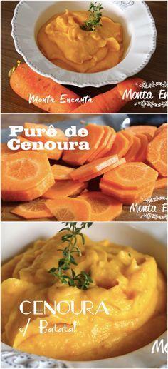 Purê de cenoura, nada mais é do que o nosso amado purê de batata com a adição da cenoura, que o transforma em um acompanhamento diferente, com sabor mais delicado.