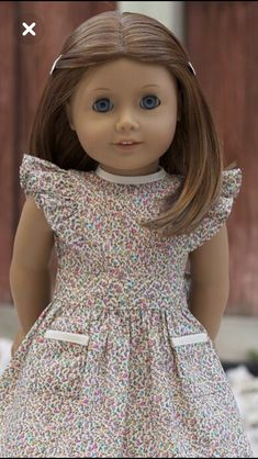 Baby Girl Frocks, Baby Girl Party Dresses, Frocks For Girls, Little Girl Dresses, Sewing Doll Clothes, American Doll Clothes, Girl Doll Clothes, Girl Dolls, African Dresses For Kids