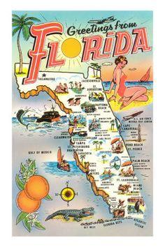 miami islands map art - Google Search