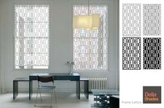 """""""Frame Lattice"""" from Delia Shades. Get a free estimate for your own project at http://www.deliashades.com/quote.php"""